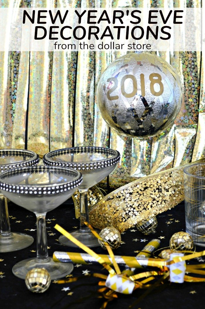 Dollar store new year 39 s eve decorations mad in crafts for The decor store