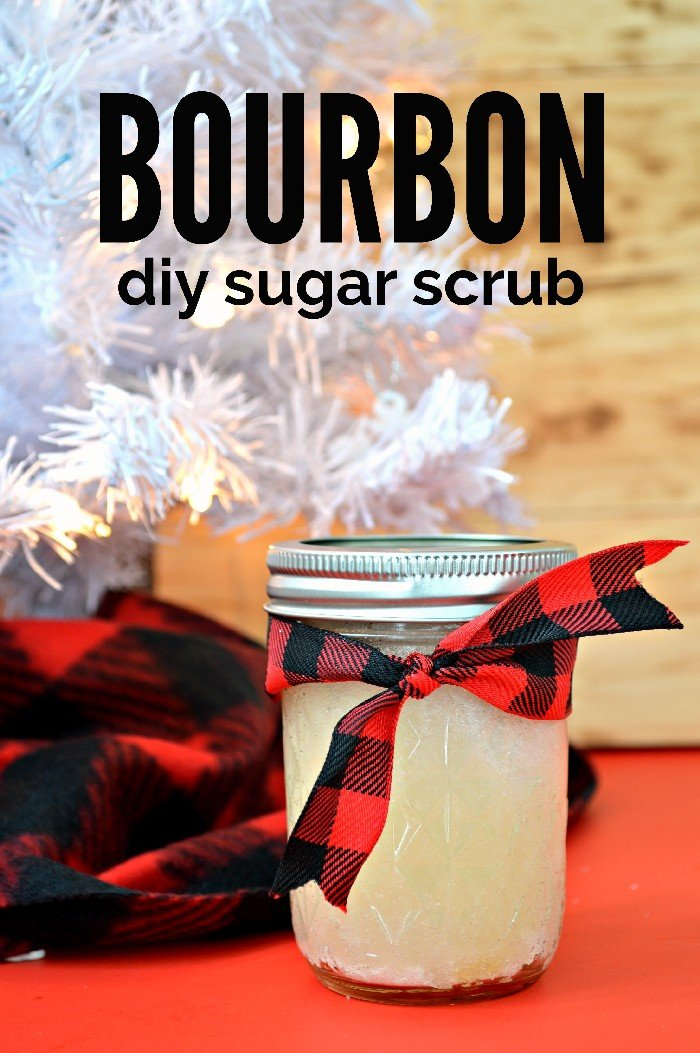 BOURBON SUGAR SCRUB – MASON JAR GIFT FOR MEN