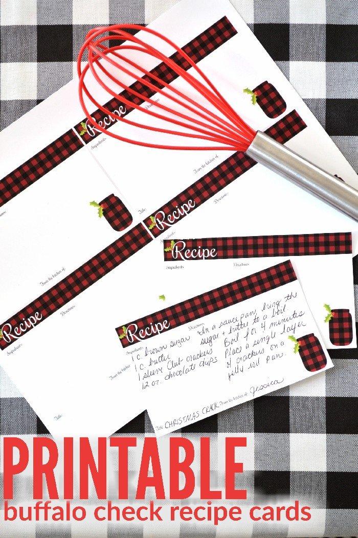 PRINTABLE BUFFALO CHECK RECIPE CARDS