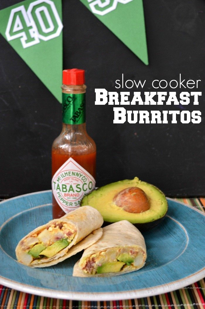 MAKE AHEAD SLOW COOKER BREAKFAST BURRITOS