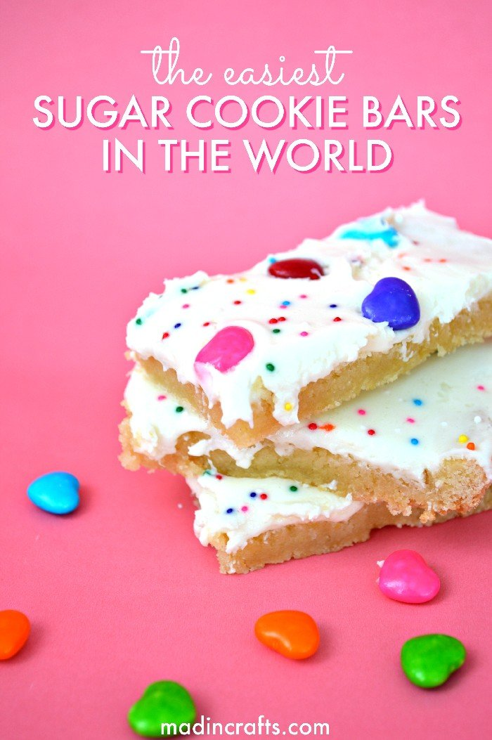 THE EASIEST SUGAR COOKIE BARS IN THE WORLD
