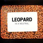 WOOD BURNED LEOPARD PRINT FRAME