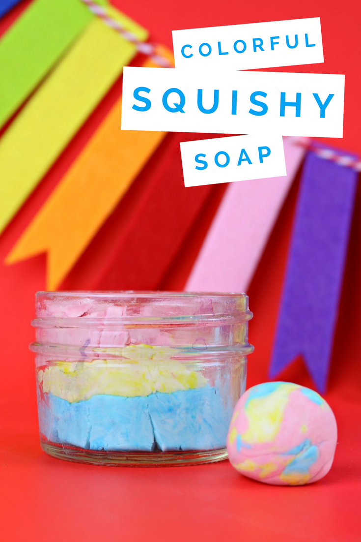 DIY COLORFUL SQUISHY SOAP
