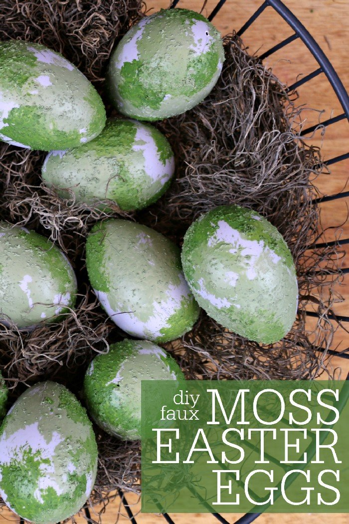 DIY FAUX MOSS EASTER EGGS