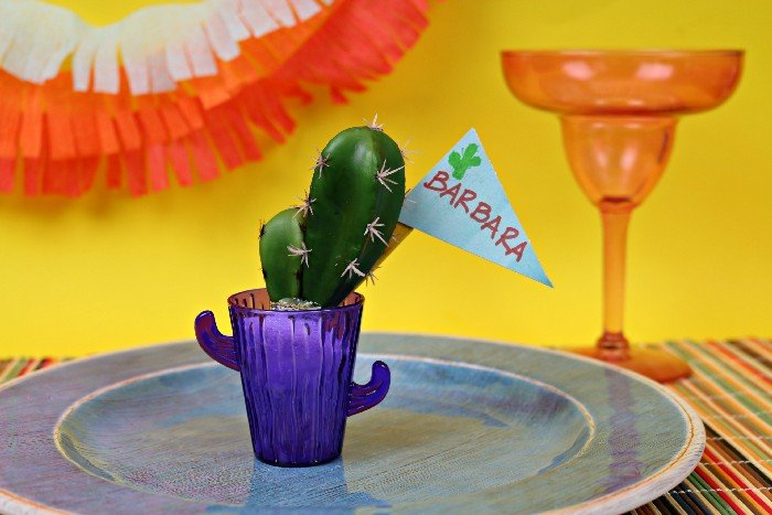 DOLLAR STORE CACTUS PLACE CARDS