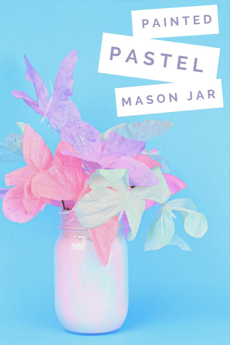 MARBLED PASTEL SPRING MASON JAR