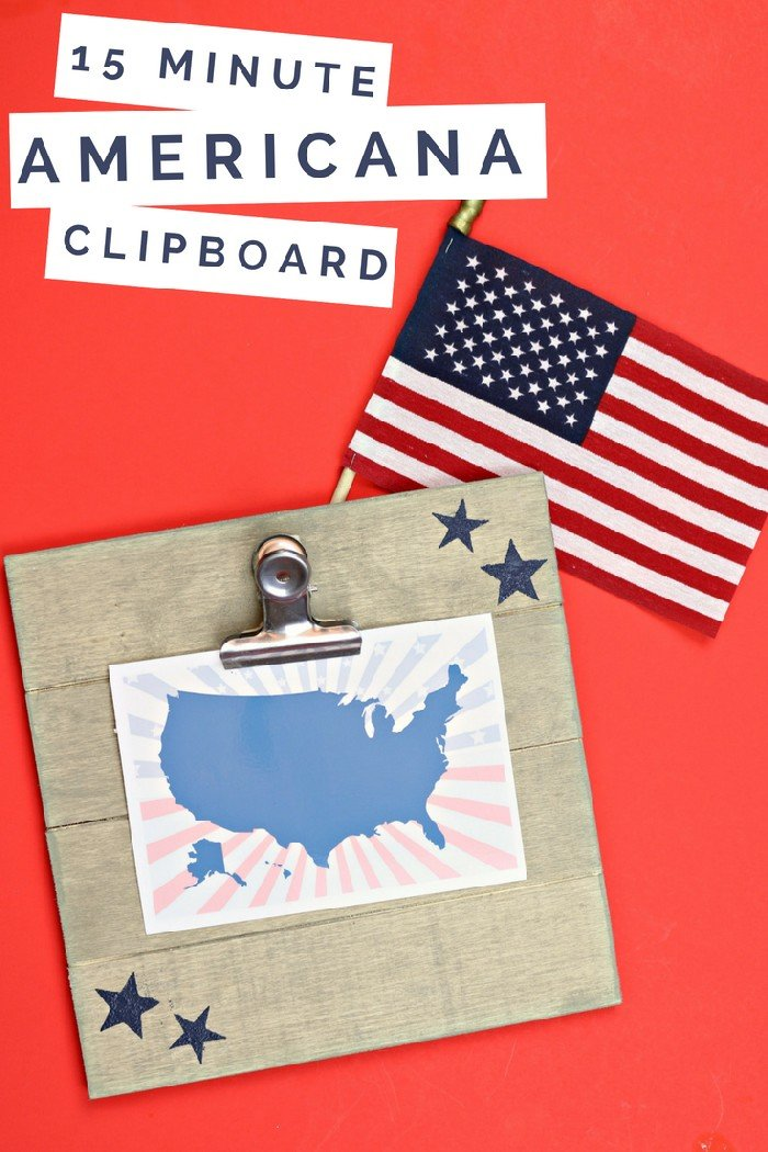 15 minute americana clipboard mad in crafts for Americana crafts to make