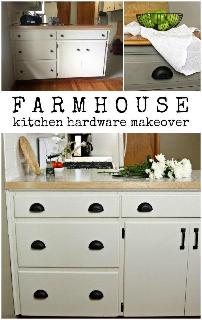 FARMHOUSE KITCHEN HARDWARE MAKEOVER