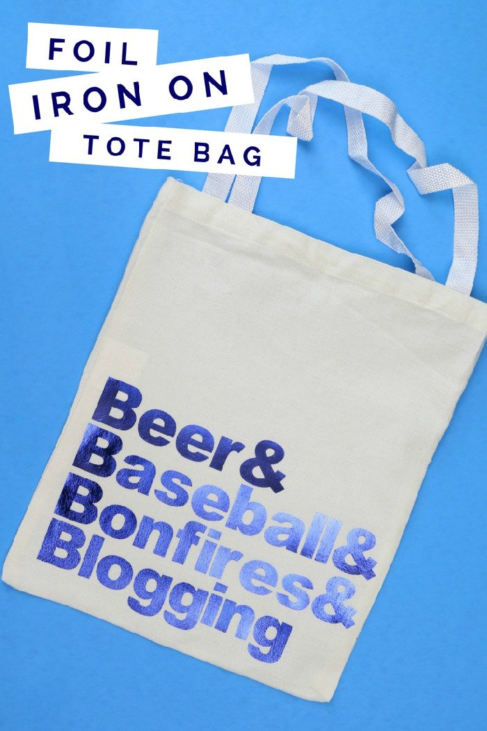 FAVORITE THINGS TOTE BAG WITH FOIL IRON-ON