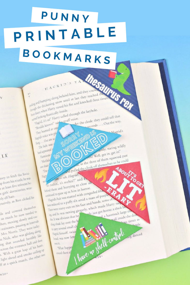 printable corner bookmarks for book lovers - mad in crafts