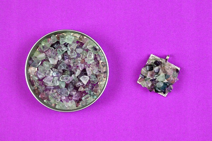 PURPLE STONE CLUSTER JEWELRY
