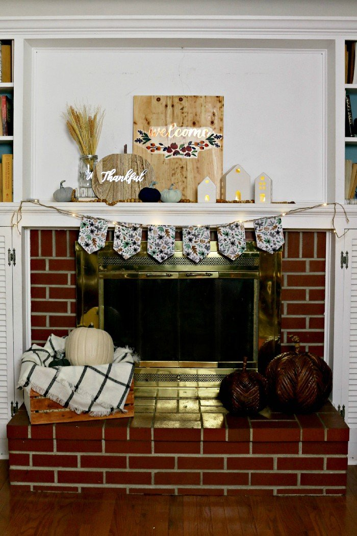 Styling A Fall Mantel With Target Dollar Spot Decor Fall
