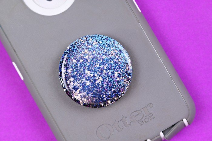 GALAXY POP SOCKET WITH MOD PODGE