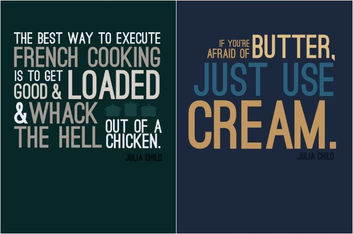 FREE JULIA CHILD QUOTE PRINTABLES