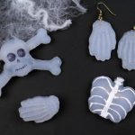 HALLOWEEN SKELETON JEWELRY MADE FROM HOT GLUE