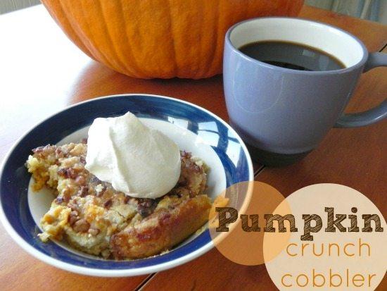 pumpkin crunch cobbler