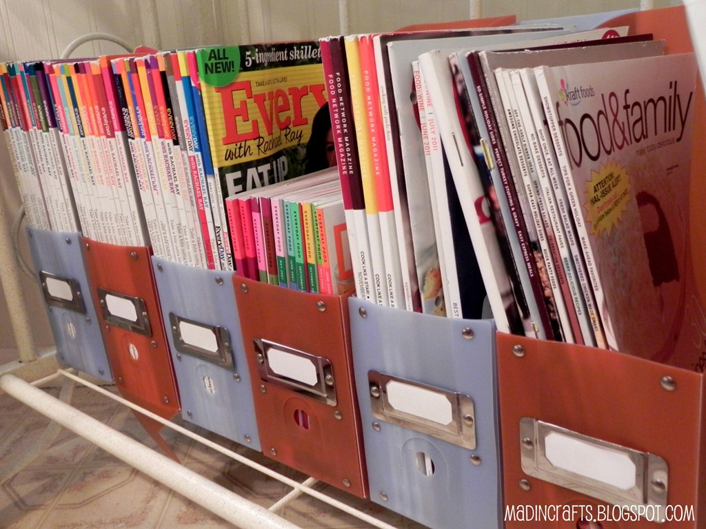 Simple Cooking Magazine Organization