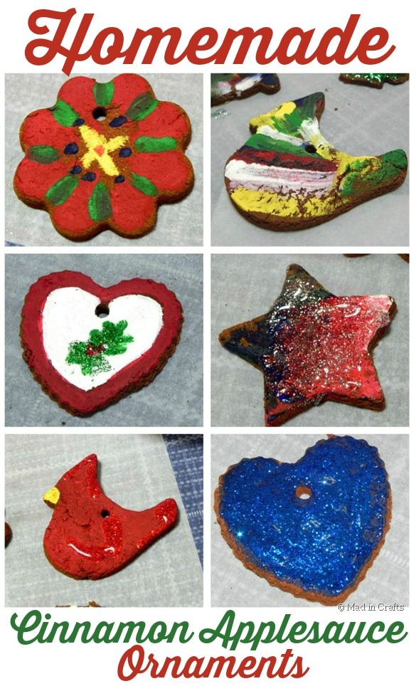 Homemade Painted Cinnamon-Applesauce Ornaments