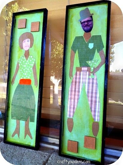"""Using Mod Podge """"Mad Men"""" Style: Make Fun Personalized Mid-Century Modern Wall Pieces"""