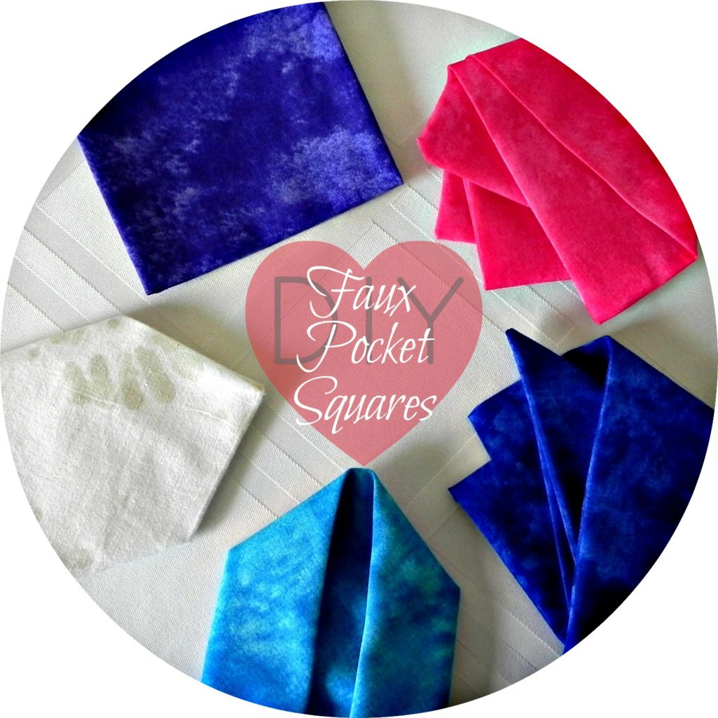 DIY Faux Pocket Squares