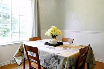 Royal Design Studio: Chez Sheik Stenciled Dining Room