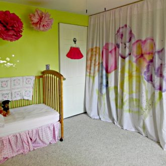 Watercolor Curtains with Tie Dye