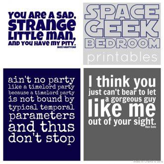 Space Geek Printables