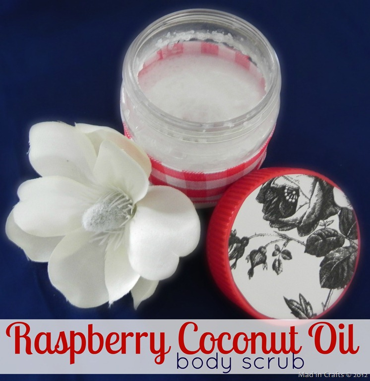 Raspberry Coconut Oil Body Scrub
