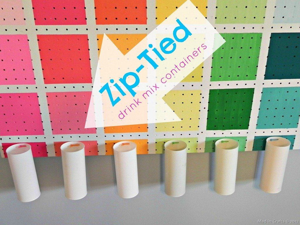 Project Runway-Inspired Colorful Pegboard