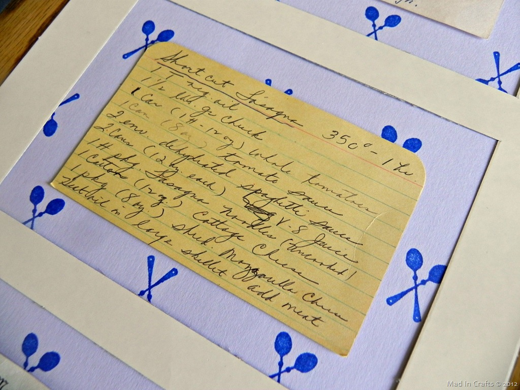 Framed Sentimental Recipes for PSA Essentials