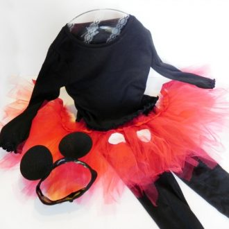 A Mostly Homemade Mickey Mouse Costume for a Girl