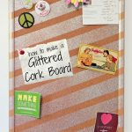 Craft Room: Glittered Corkboard