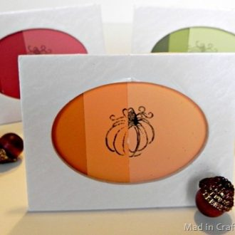 Easy Stamped Ombre Thanksgiving Place Cards