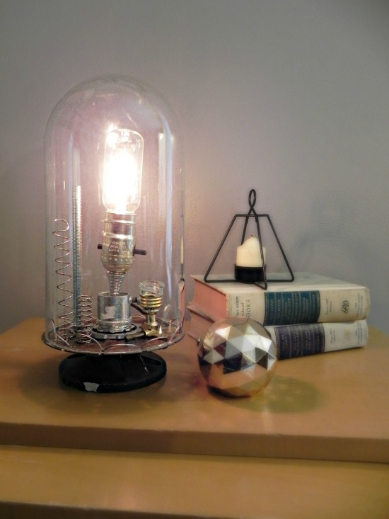 Anthro-Inspired Inventor's Bell Jar Lamp