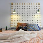 DIY Woven Headboard from Upcycled Vertical Blinds