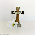 He is Risen! Easter Cross Centerpiece