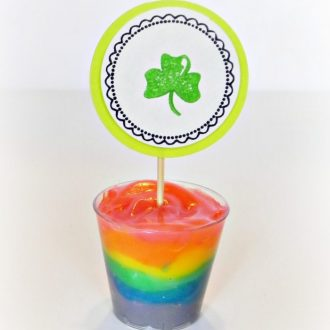 Rainbow Pudding for St. Patrick's Day