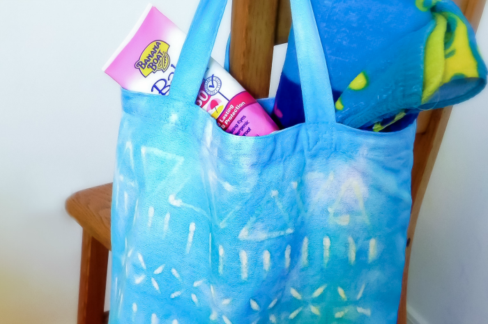 Totes Adorbs: Tie Dye and Crayon Batik Bag