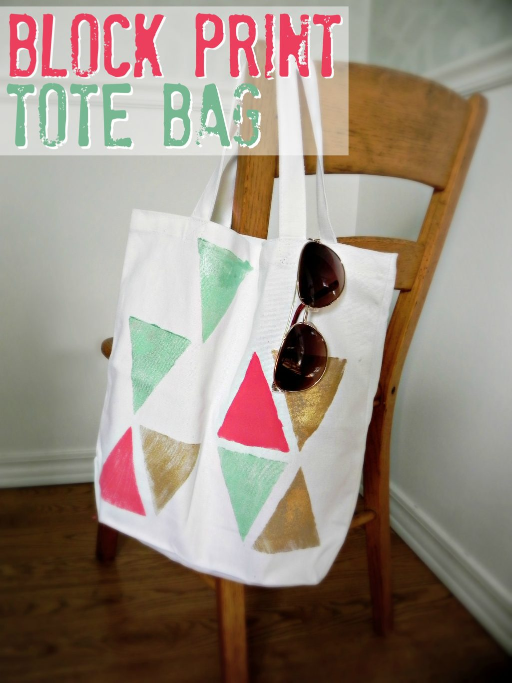 Totes Adorbs: Easy Block Print Tote Bag Mad in Crafts