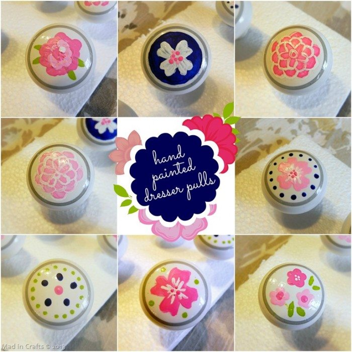 Hand Painted Dresser Drawer Pulls
