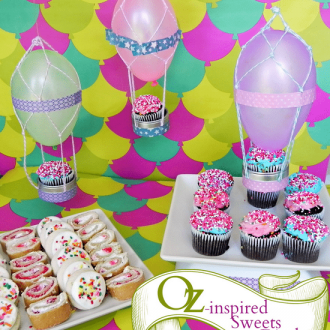 "Hot Air Balloon Sweets Table Inspired by ""Oz the Great and Powerful"""