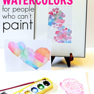 Stenciled Watercolors (for People Who Can't Paint)