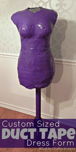 Custom Sized Duct Tape Dress Form Mad In Crafts