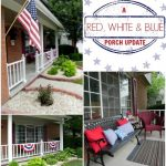 A Red, White and Blue Front Porch Update