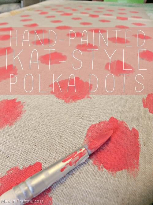 Hand-Painting Ikat-Style Polka Dots