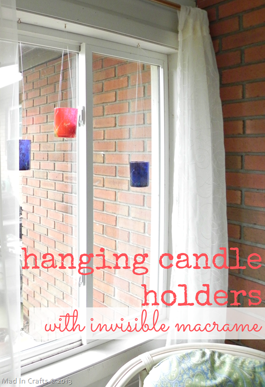Hanging Candle Holders with Invisible Macramé