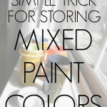 Simple Trick for Storing Mixed Paint Colors