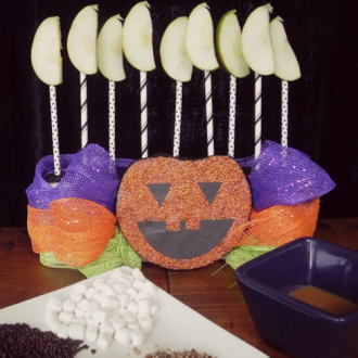Halloween Caramel Apple Bar