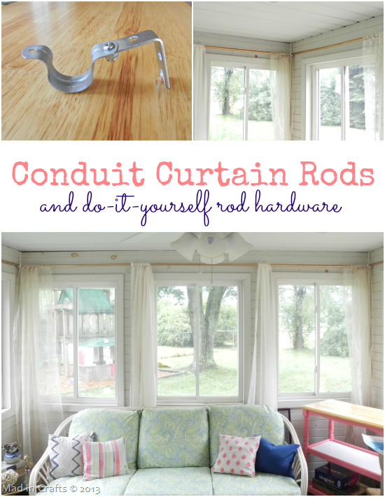 PVC Conduit Curtain Rods and DIY Rod Hardware