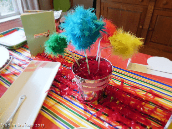 homemade dr seuss party decorations mad in crafts rh madincrafts com dr seuss birthday party decoration ideas